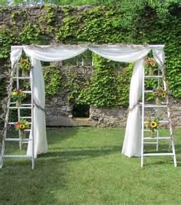 Backyard Weddings On A Budget by Vintage Ladder Wedding Arch Cost Effective Ideas