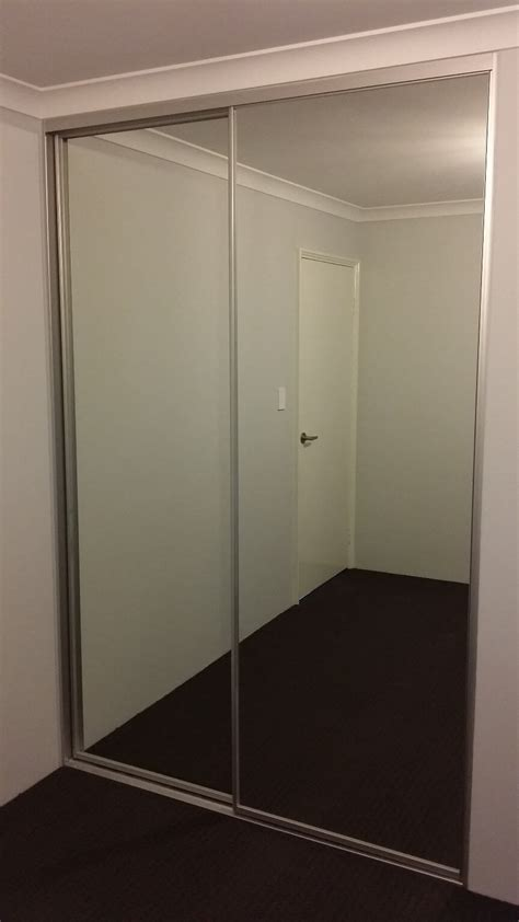 glass mirror wardrobe doors mirror sliding wardrobe doors perth