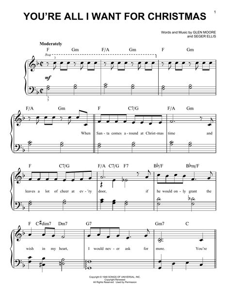 tutorial piano all i want for christmas is you partition piano you re all i want for christmas de brook