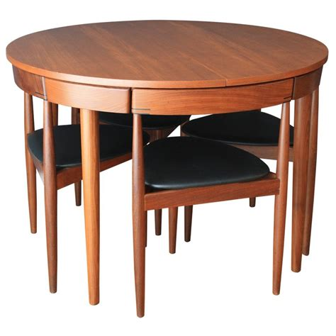Black Dining Table With Butterfly Leaf Hans Olsen Teak Dining Table With Four Chairs At 1stdibs