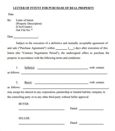 Offer Letter To Purchase Sle Offer To Purchase Real Estate Form 9 Documents In Pdf
