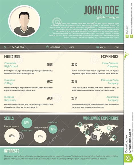 curriculum vitae cool design cool resume cv design with dark and light contrast stock