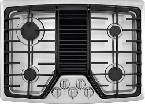 gas cooktops with built in downdraft frigidaire 30 quot built in downdraft stainless steel gas