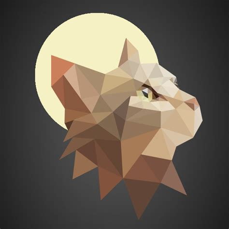 Wallpaper Poly Cat   low poly cat by augusto457 2 on deviantart