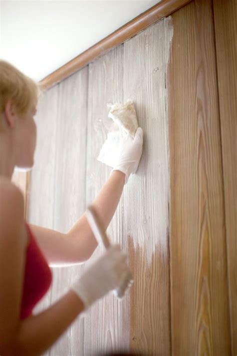 Whitewash Wainscoting by How To White Wash A Wall Stain Wood Wood Panel Walls