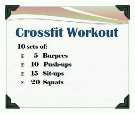 crossfit workout fitness