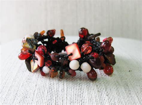 Handmade Thailand - beaded bracelet wax string bracelet jewelry