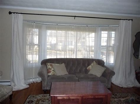 Curtains For Big Kitchen Windows Large Bay Window Curtain Rods Curtain Menzilperde Net
