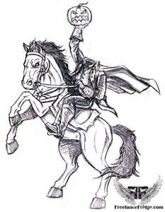 headless horseman coloring pages coloring pages