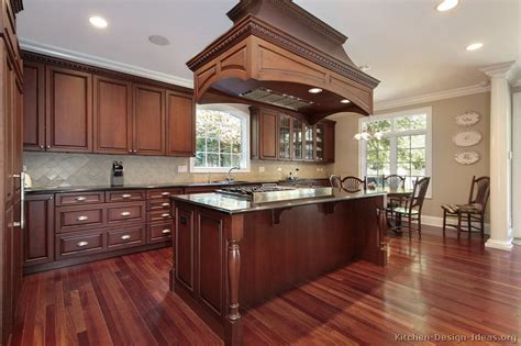 cherry wood kitchen island pictures of kitchens traditional dark wood kitchens