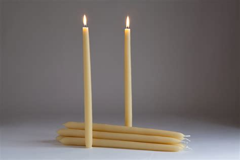Dinner Candles Dinner Candles Pack Of Six Organic Beeswax Candles