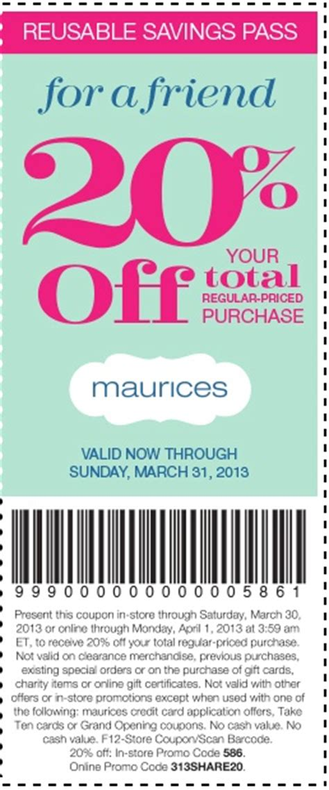 maurices outlet printable coupons 1000 images about coupons on pinterest lord