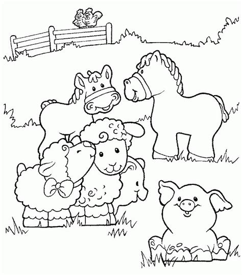 preschool farm coloring pages coloring home