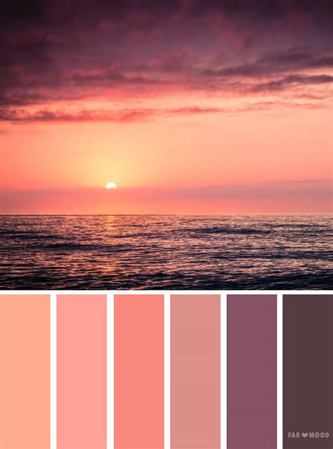 color sunset orange and sunset inspired color palette color scheme