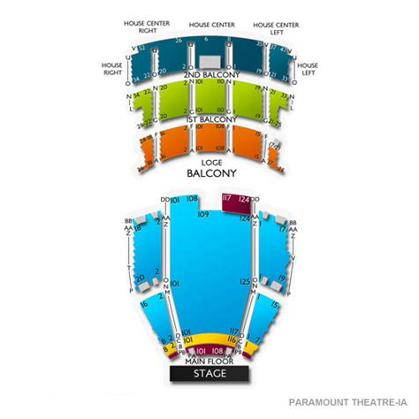 paramount theatre denver seating chart paramount theatre cedar rapids seating chart seats