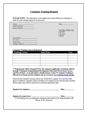 training request form fill online printable fillable