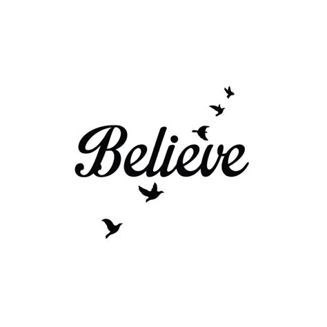 fly birds believe tattoo temporary tattoo tattify