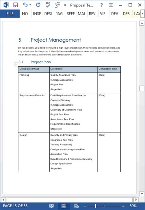 Proposal Templates 10 X Ms Word Designs 2 X Excel Spreadsheets Microsoft Word Rfp Template