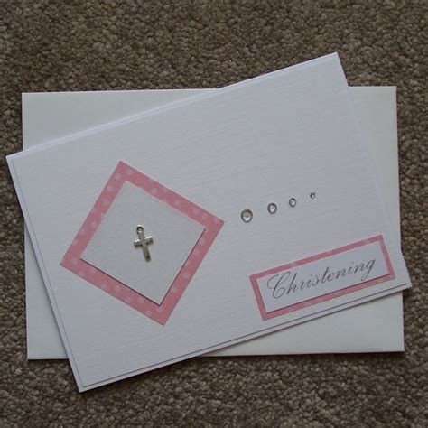 Christening Cards Handmade - handmade christening card pink 163 1 50 cards