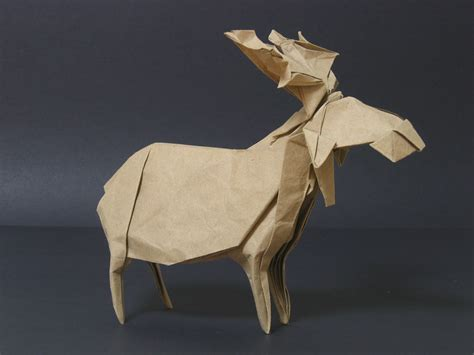 Origami Moose - zing origami animals beasts and creatures