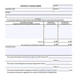 construction change order template sle change order 11 documents in pdf word