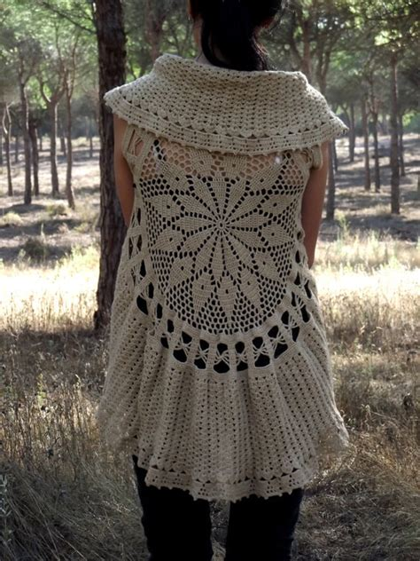 pattern crochet waistcoat crochet circular vest pattern pdf instant download mandala