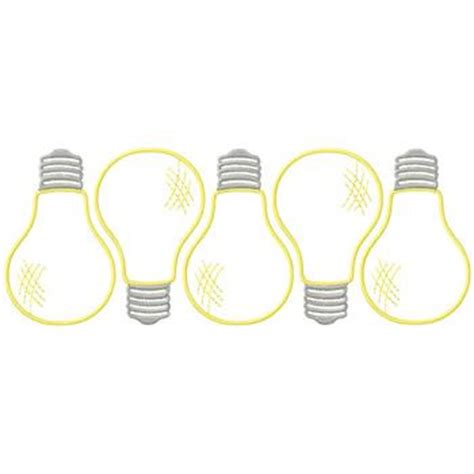 embellishments embroidery design light bulb border from