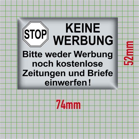 Aufkleber Keine Werbung Wo Kaufen by Aufkleber 7cm Keine Werbung Kostenlose Zeitungen Briefe