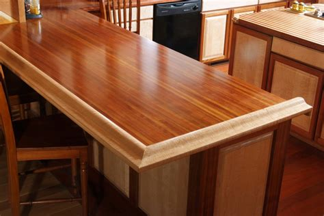 how to build a kitchen bar top brazilian cherry bar top traditional kitchen