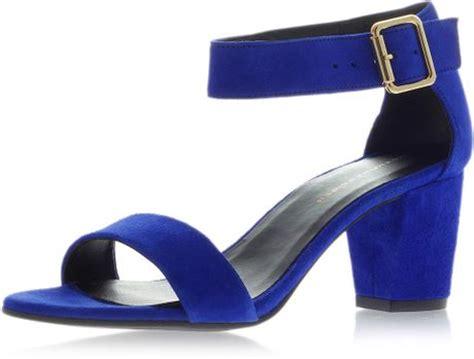 blue block heel sandals topshop block heel sandals in blue navy blue lyst