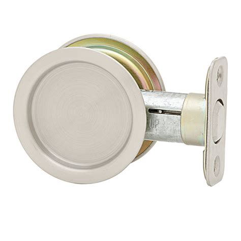 weiser 1030 passage pocket door lock in satin nickel