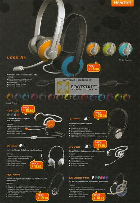 Headset Sonicgear Loop Ii X leapfrog sonicgear loop iix headset mic xbs 330 x 1000 bs