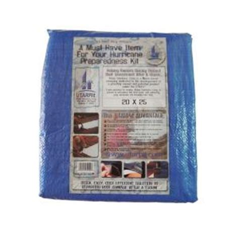 utarpit 20 ft x 25 ft blue roofing tarp bt2025 the