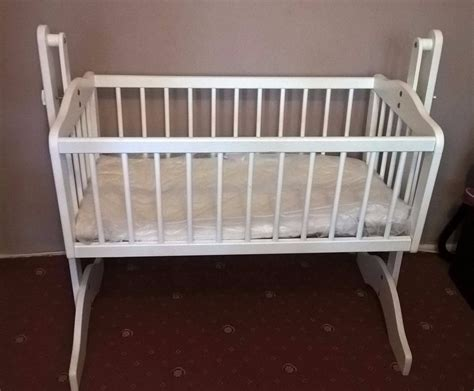 used crib mattress used white crib and mattress in islington gumtree