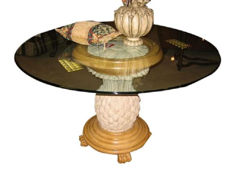 pineapple base dining table pineapple base glass dining table