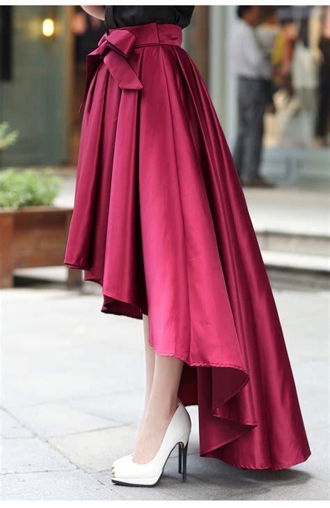 Hq 10452 Topskirt high quality burgundy skirt high low skirts skirts