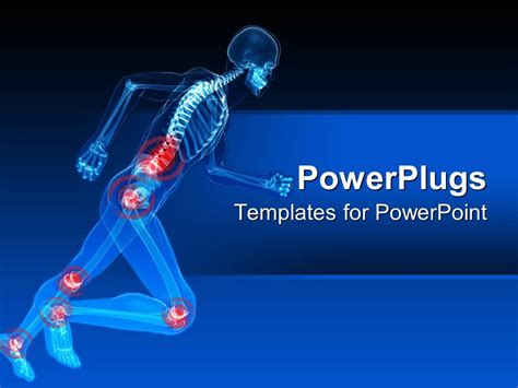 powerpoint themes free download x ray powerpoint template blue x ray of in action skeleton