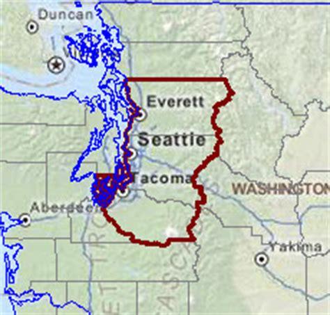 seattle map everett seattle tacoma bellevue wa msa situation outlook report