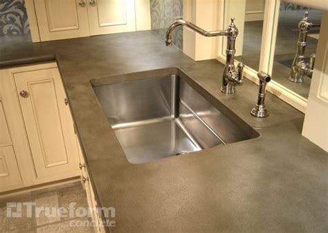undermount concrete countertop 25 best images about custom concrete kitchen countertops