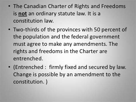 Human Rights Act Section 7 by Canadian Human Rights And Freedoms