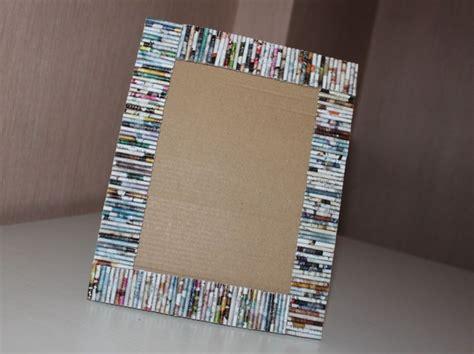 cornici di carta riciclo creativo con la carta tante idee fai da te foto