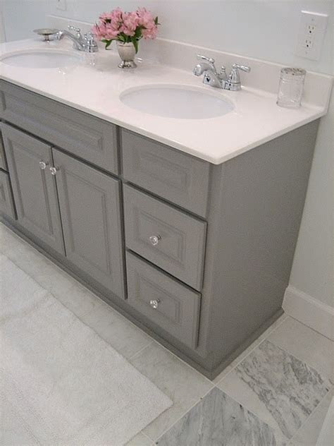 gray painted bathroom cabinets another gray painted vanity pimp my teepee pinterest