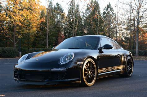 Porsche Decals side decals installed matt black on black 997 2