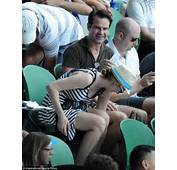 Funnyman Jimmy Carr And Girlfriend Karoline Kopping Share A Laugh As