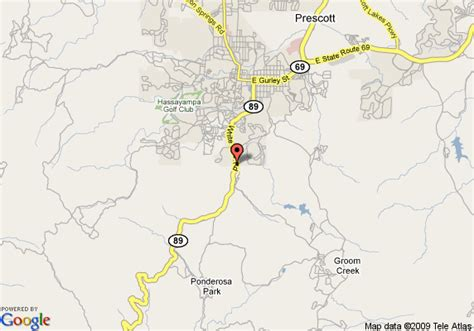 map of arizona prescott map of comfort inn prescott prescott