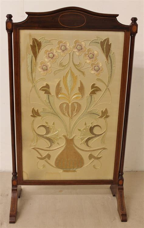 Antique Fireplace Screens by Mahogany Firescreen C 1890 Loveantiques