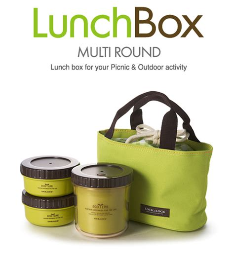 Lunch Box Small Tote Bag Multifunction 15 lock lock bento multi lunch box set with 3 containers small bag green by lock n