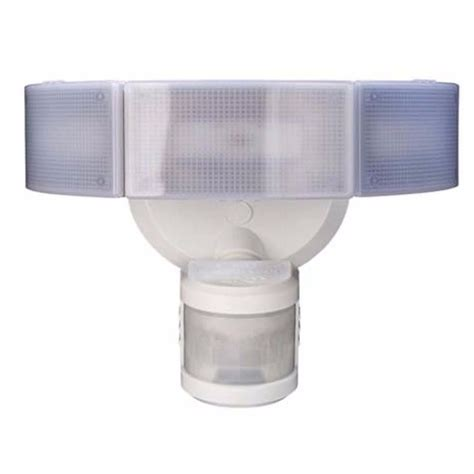 Light Fixture Motion Sensor Outdoor Homes 3 White Led Motion Sensor Area Security Flood Light Fixture Ebay
