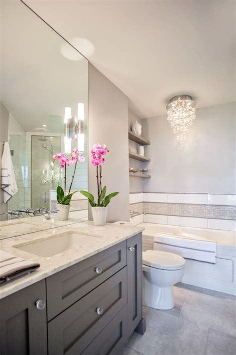 gray and white bathroom grey vanity contemporary bathroom madison taylor design