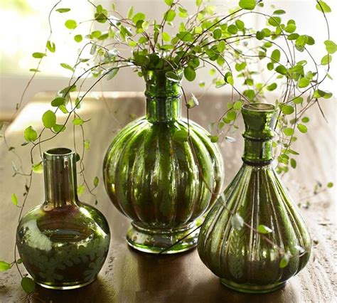 Mercury Glass Bud Vases by Green Mercury Glass Bud Vases Traditional Vases By